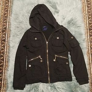 BB Dakota Jack - Black Utility Jacket with Hood